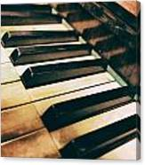 Close Up Of An Old Piano Canvas Print