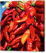 Close-up Of Red Chilies, Taos, New Canvas Print