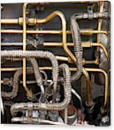 Close-up Of Tangled Pipes Canvas Print