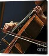 Close Up Of The Cellist's Hands Canvas Print