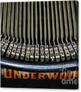 Close Up Of Vintage Typewriter Keys. Canvas Print