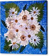 Close Up Of White Daisy Bouquet Canvas Print