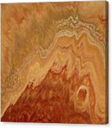 Close-up One Of Agate Seven From The Poured Agate Painting Collection Canvas Print