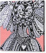 Close Up Owl Pink Canvas Print