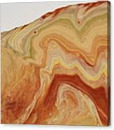 Close-up Two Of Agate Seven From The Poured Agate Painting Collection Canvas Print