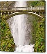 Close Up View Of Multnomah Falls In The Columbia River Gorge Of Oregon Canvas Print