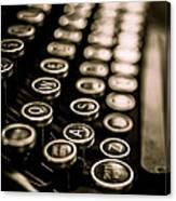 Close Up Vintage Typewriter Canvas Print