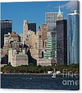 Close View Of Downtown Manhattan Eastern Skyline Canvas Print