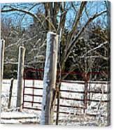 Closed Gate In Winter  Canvas Print