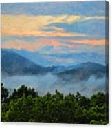 Closer To Heaven In The Blue Ridge Mountains Canvas Print