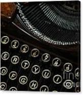 Closeup Of Antique Typewriter Canvas Print