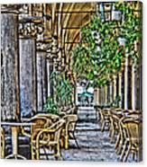 Cloth Hall Cafe In Krakow Canvas Print