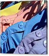 Clothes Street Sale Canvas Print
