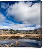 Cloud Above Dry Lagoon Canvas Print