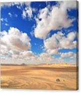 Cloudscape At Sahara Desert Canvas Print