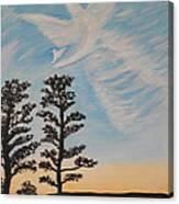 Cloud Angel In Acryics Canvas Print