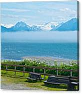 Cloud Bank At Low Tide In Homer-ak Canvas Print