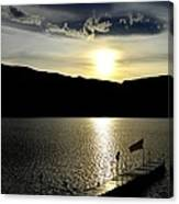 Cloud Chasing - Skaha Lake 4-2-2014  Canvas Print