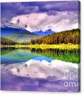 Cloud Cover On Lake Patricia Canvas Print
