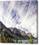 Cloud Formation At Saint Mary Lake Canvas Print
