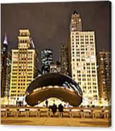 Cloud Gate And Skyscrapers Canvas Print