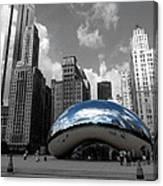 Cloud Gate B-w Chicago Canvas Print