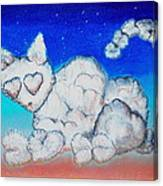 Cloud Kitty Canvas Print