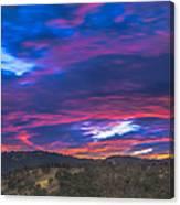 Cloud Movement At Sunset Canvas Print