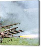 Cloud Of Smoke Volley Fire Canvas Print