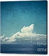 Cloud Over Island Canvas Print