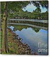 Cloud Reflection At The Pond Canvas Print