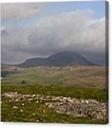 Cloud Streaming Across The Summit Of Pen-y-ghent Ribblesdale North Yorkshire England Canvas Print