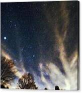 Cloud Tree In A Starry Sky Canvas Print