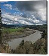Clouds Above Eel River Canvas Print