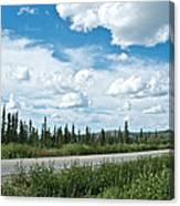 Clouds Above Taylor Highway To Chicken-ak Canvas Print
