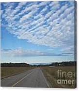 Clouds Along Newman Road Canvas Print