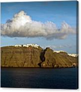 Clouds And Cliffs Canvas Print