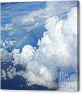 Clouds And Rainbow Canvas Print