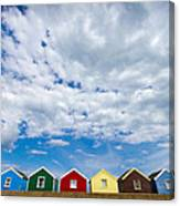 Clouds And Sheds Canvas Print