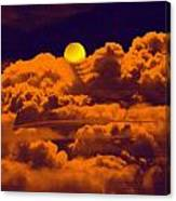 Clouds And The Moon Canvas Print