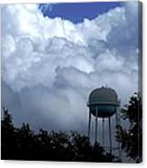 Clouds Around The Water Tower Canvas Print