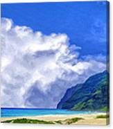 Clouds At Polihale Canvas Print