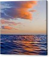 Clouds At Sunset - Racing Across The Water At Sunset Canvas Print