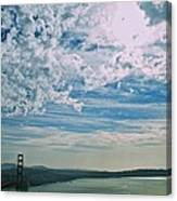 Clouds Dropping In Canvas Print