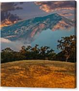 Clouds Fog And Mt Diablo Canvas Print