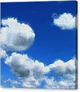 Clouds In A Blue Sky Canvas Print