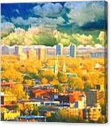 Clouds In The City Canvas Print