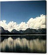 Clouds In The Grand Tetons Canvas Print