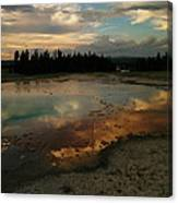 Clouds In The Water Canvas Print