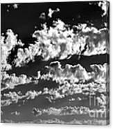 Clouds Of Freycinet Bw Canvas Print